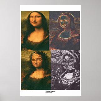Mona Lisa Foursquare Poster