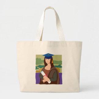 Mona Lisa Graduate Tote Bags