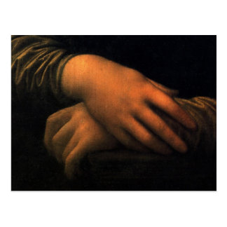 Mona Lisa - hands Postcard