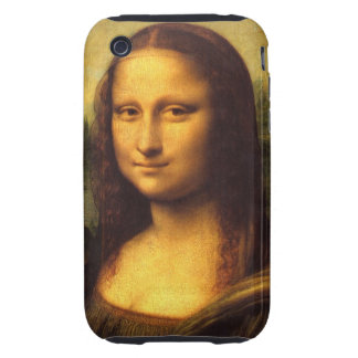 Mona Lisa Head Detail - Leonardo Da Vinci iPhone 3 Tough Case