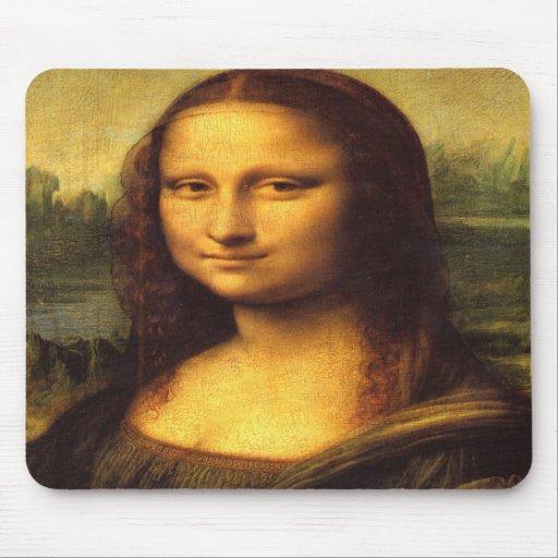 Mona Lisa Head Detail - Leonardo Da Vinci Mousepads