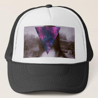 Mona lisa hipster. trucker hat