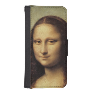 Mona Lisa in detail by Leonardo da Vinci iPhone 5 Wallet Case