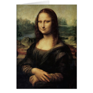 Mona Lisa in detail Greeting Cards