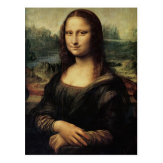 Mona Lisa in detail postcard