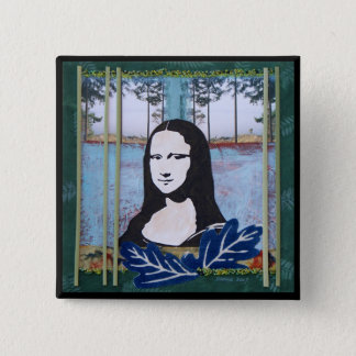 Mona Lisa in the Country 15 Cm Square Badge