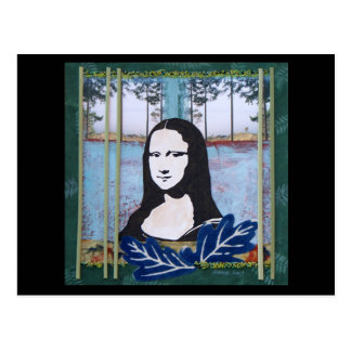 Mona Lisa in the Country Postcards