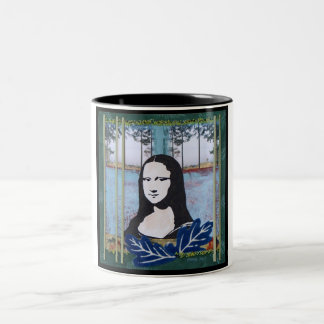 Mona Lisa in the Country Two-Tone Mug