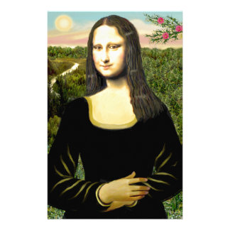 Mona Lisa - insert a pet (#2) Stationery