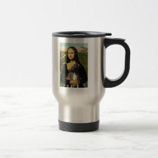 Mona Lisa - Italian Greyhound Stainless Steel Travel Mug