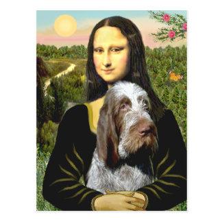 Mona Lisa - Italian Spinone (roan 10) Postcard
