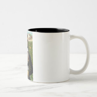 Mona Lisa - Italian Spinone (roan 10) Two-Tone Coffee Mug