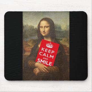 Mona Lisa Keep Calm And Smile Mouse Mat