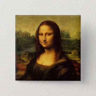 Mona Lisa Leonardo Da Vinci 15 Cm Square Badge