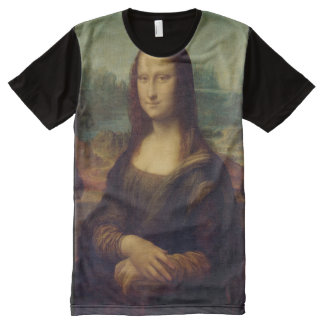 Mona Lisa Leonardo da Vinci Fine Art All-Over Print T-Shirt