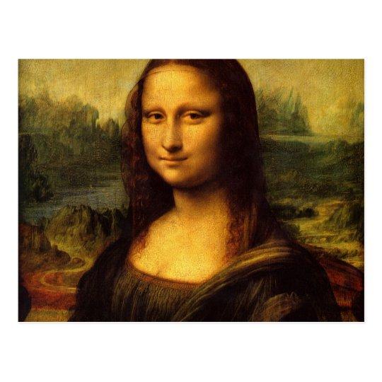 Mona Lisa Leonardo da Vinci Portrait Famous Smile Postcard