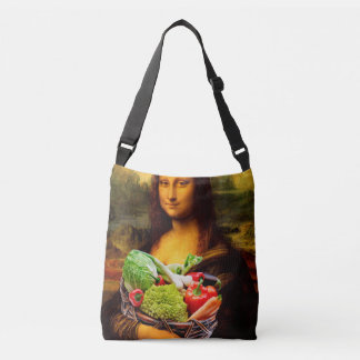Mona Lisa Lives Healthy Crossbody Bag