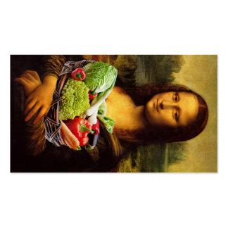 Mona Lisa Loves Vegetables Business Card Templates