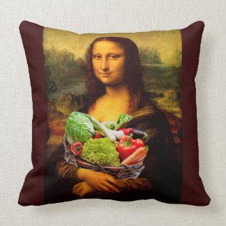 Mona Lisa Loves Vegetables Cushion