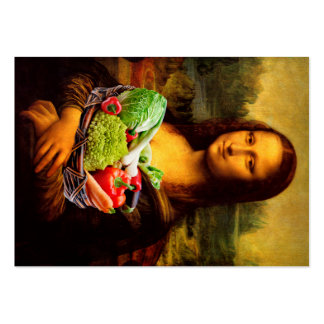 Mona Lisa Loves Vegetables Pack Of Chubby Business Cards