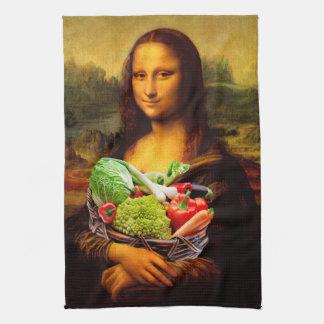 Mona Lisa Loves Vegetables Tea Towel