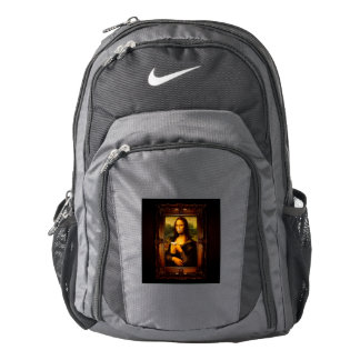 Mona lisa - mona lisa beer  - funny mona lisa-beer backpack