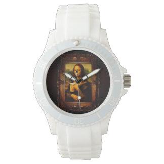 Mona lisa - mona lisa beer  - funny mona lisa-beer wrist watch