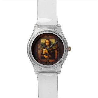 Mona lisa - mona lisa beer  - funny mona lisa-beer wristwatch