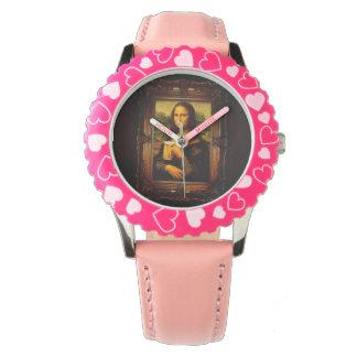 Mona lisa - mona lisa beer  - funny mona lisa-beer wristwatches