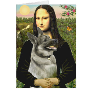 Mona- Lisa - Norwegian Elkhound Greeting Card