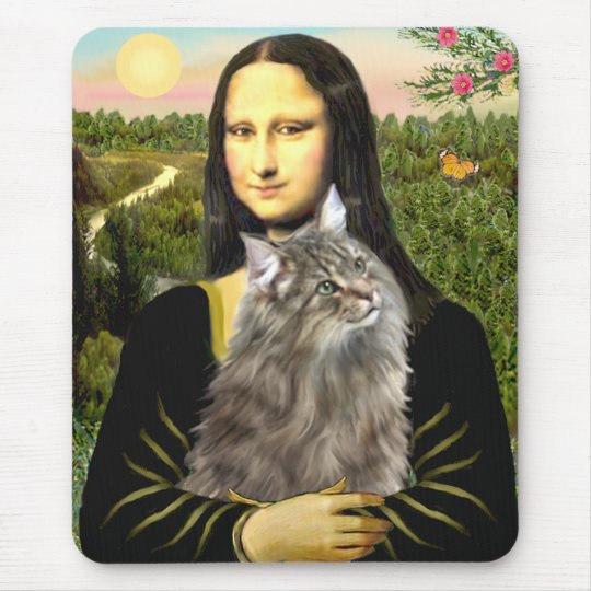 Mona Lisa - Norweigan Forest Cat Mouse Pad