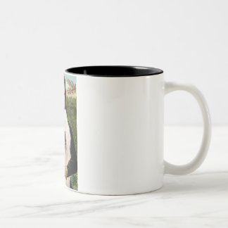 Mona Lisa - Old English 3 Two-Tone Coffee Mug