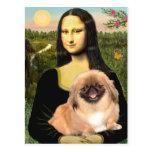 Mona Lisa - Pekingese #1 Postcard