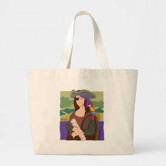 Mona Lisa Pirate Tote Bags