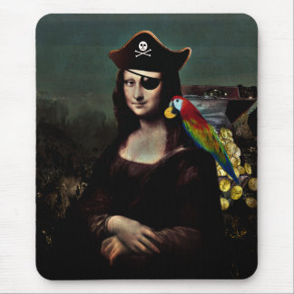 Mona Lisa Pirate Captain Mouse Mat