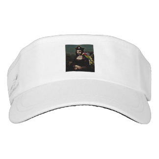 Mona Lisa Pirate Captain With a Mustache Visor