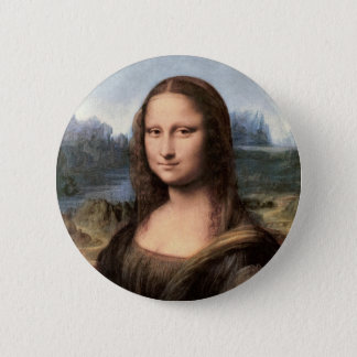 Mona Lisa Portrait / Painting 6 Cm Round Badge