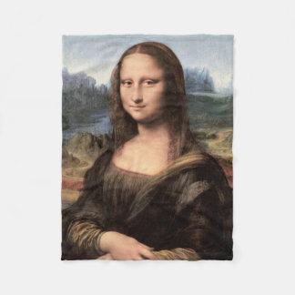 Mona Lisa Portrait / Painting Fleece Blanket