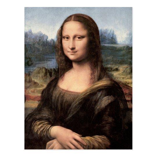 Mona Lisa Portrait / Painting Postcard