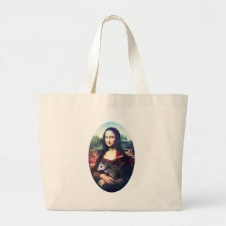 Mona Lisa Possum Tote Bags