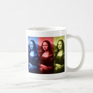 Mona Lisa Primary Colors Basic White Mug
