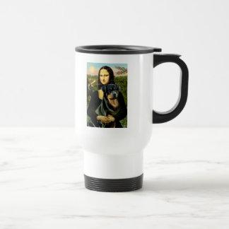 Mona Lisa - Rottweiler (#3) Travel Mug