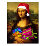 Mona Lisa Santa Claus Post Cards