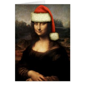 Mona Lisa Santa Greeting Card