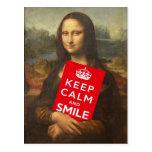 Mona Lisa Says Keep Calm And Smile