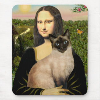 Mona Lisa - Seal Point Siamese cat Mouse Mat