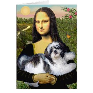 Mona Lisa - Shih Tzu A-ld Greeting Cards