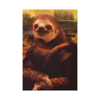 Mona Lisa Sloth Canvas Print