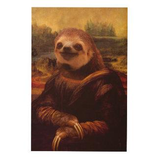 Mona Lisa Sloth Wood Wall Art