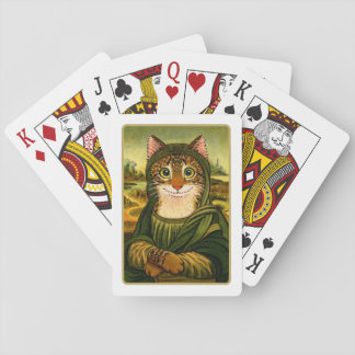 Mona Lisa Smile CAT  Playing Cards